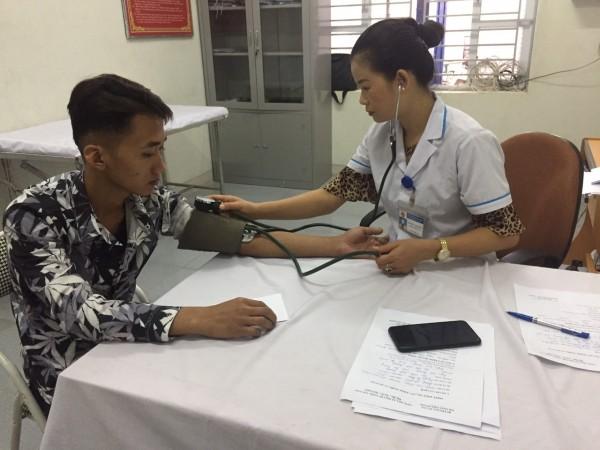Thị trấn Việt Quang tổ chức khám sức khỏe nghĩa vụ quân sự năm 2019