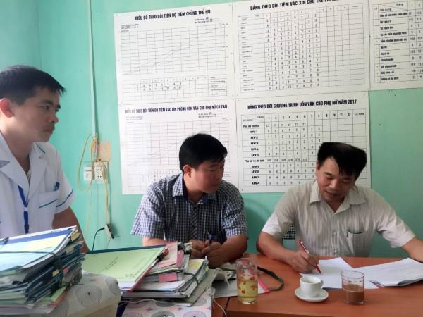 Phúc tra Bộ tiêu chí Quốc gia về Y tế xã tại các Trạm Y tế Vĩnh Phúc, Tiên Kiều, Đồng Tiến, Thượng Bình, Bằng Hành