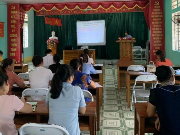 Tập huấn can thiệp dự phòng lây nhiễm HIV/AIDS, điều trị Methadone tại xã Kim Ngọc, Bắc Quang