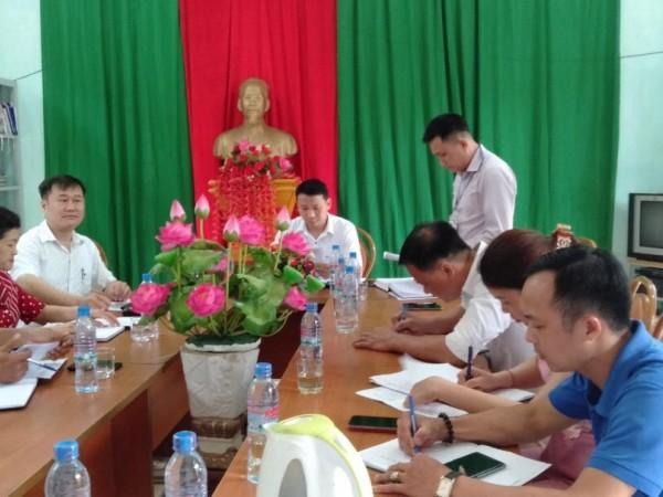 Trung tâm Y tế  Bắc Quang  phúc tra Bộ tiêu chí Quốc gia về Y tế xã tại xã Bằng Hành