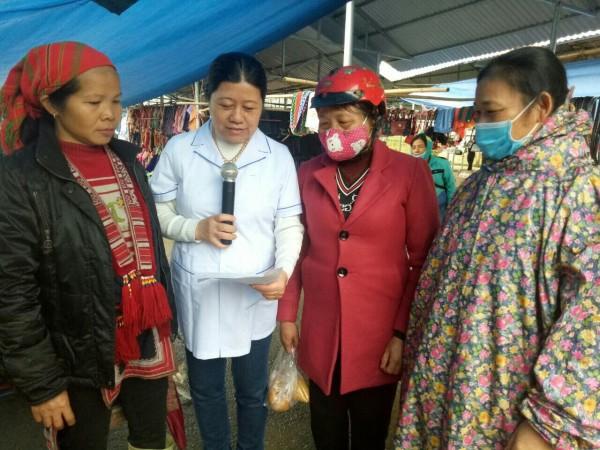 Trung tâm Y tế huyện Bắc Quang truyền thông phòng chống dịch bệnh viêm phổi cấp do vi rút Corona mới
